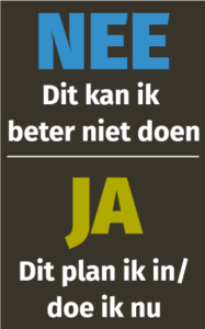 Mentale Nee/Ja sticker - Judith Bolder Organiseert
